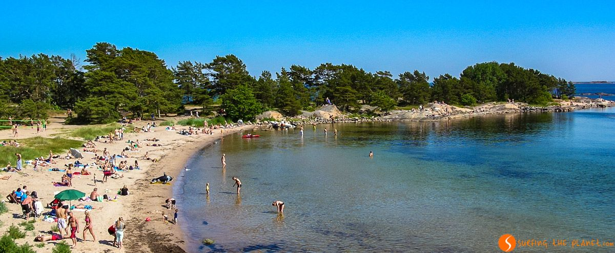 Playa en el Archipiélago de Estocolmo, Suecia | Qué ver en Estocolmo