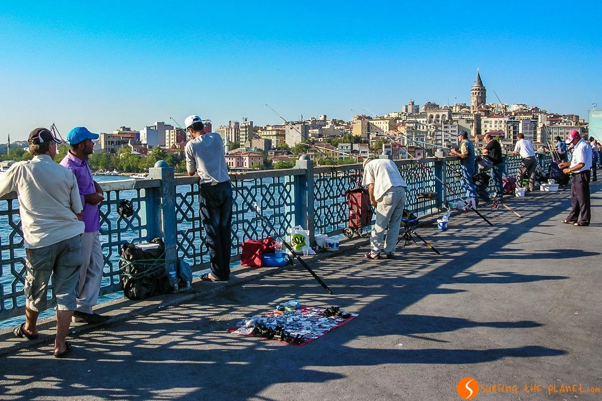 Puente Gálata, Estambul, Turquía