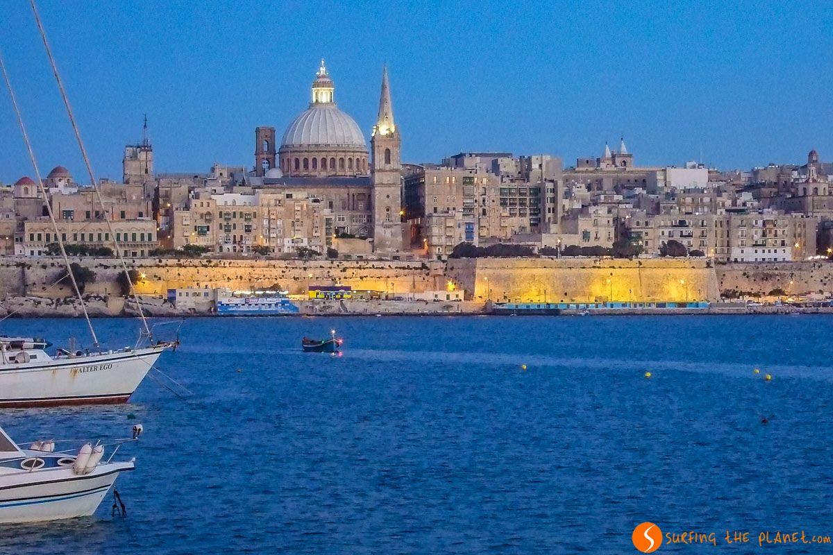 Vista de Valeta desde Sliema, Malta