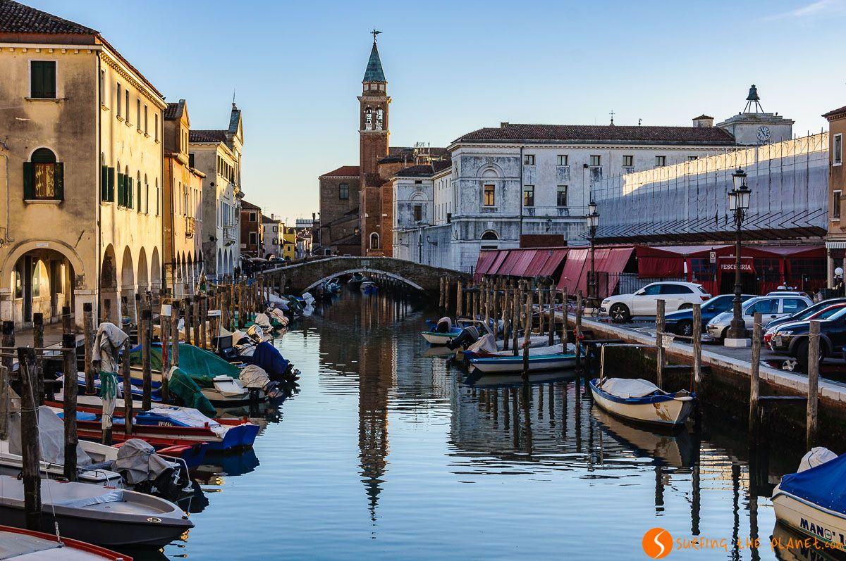 Canal, Chioggia, Véneto, Italia