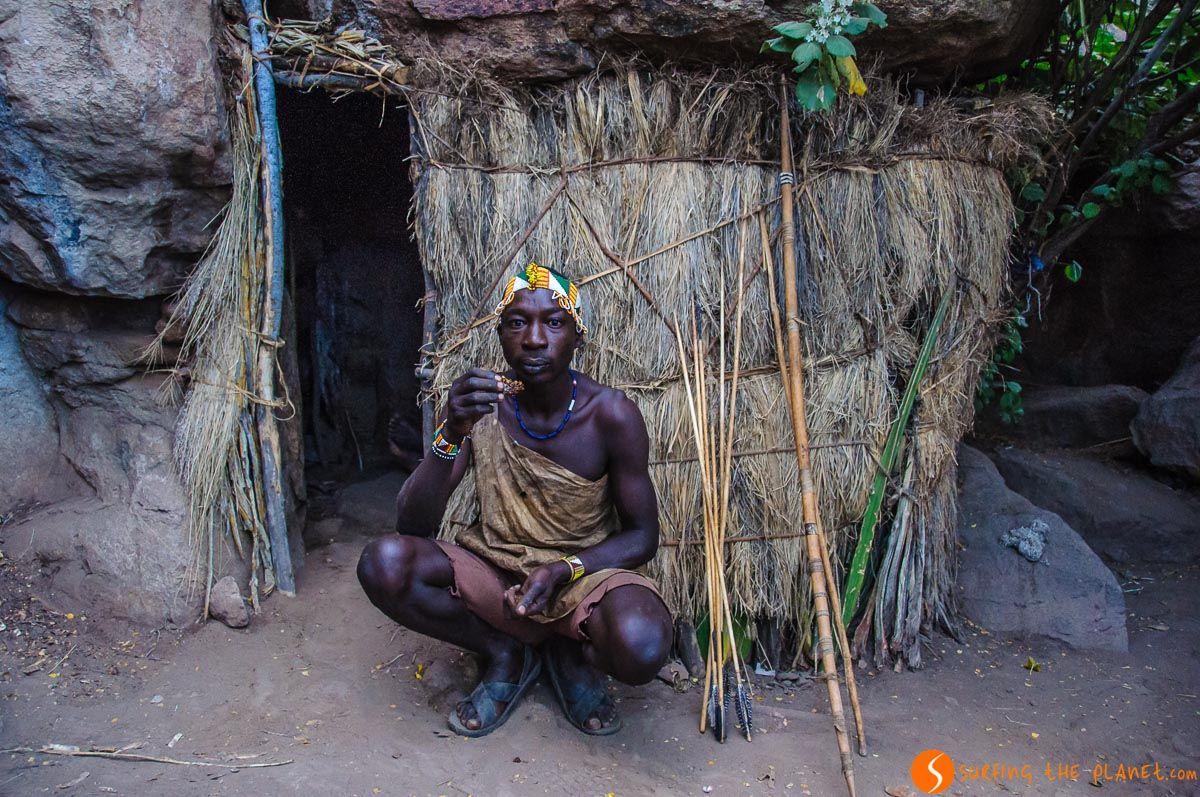 Casa, Tribu de Bosquimanos, Lago Eyasi, Tanzania
