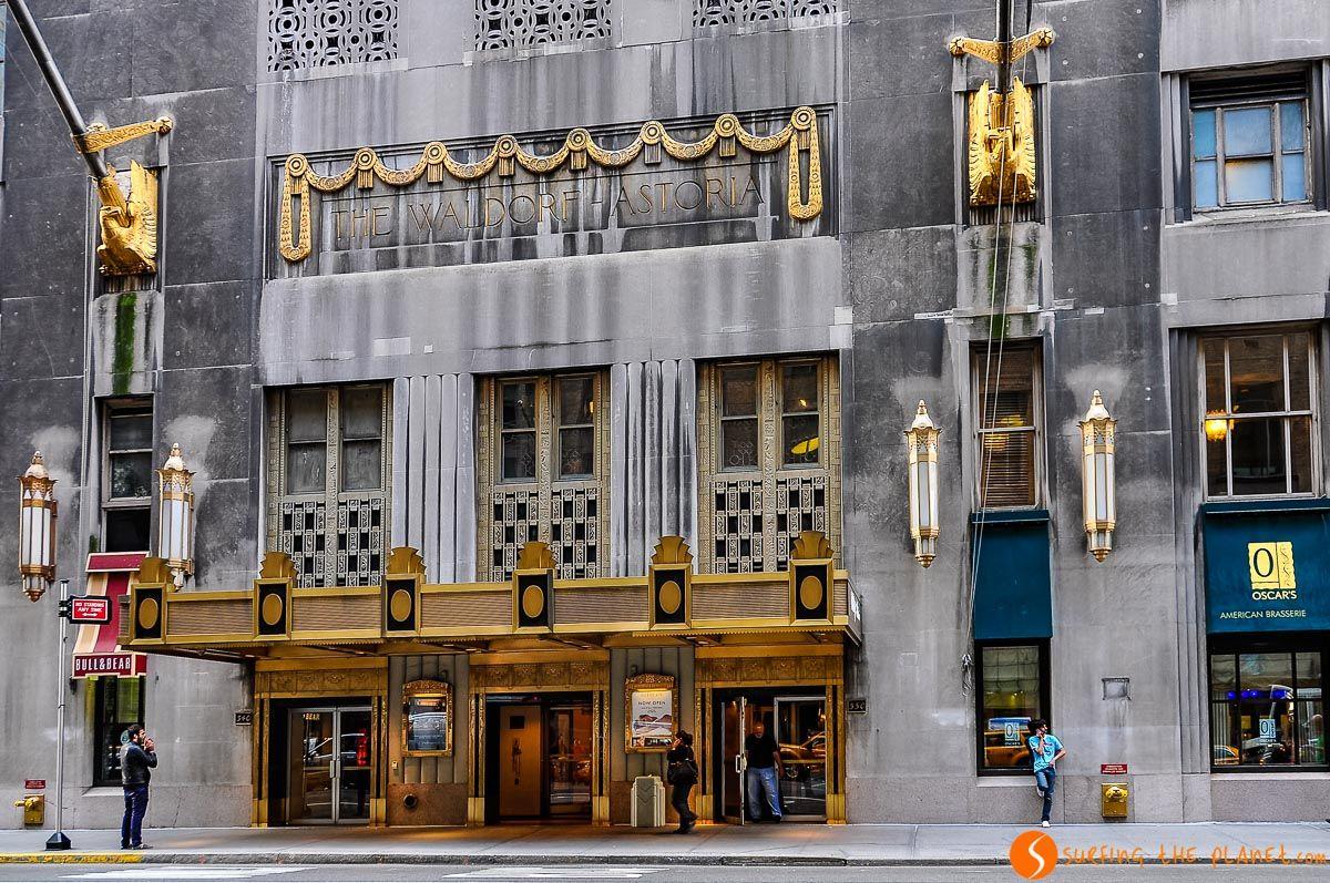 Hotel Waldorf, Midtown, Nueva York | Dónde dormir en Nueva York