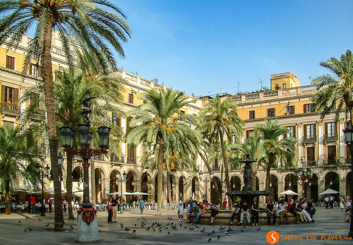 Plaza Real, Barcelona, España | Qué plazas ver en Europa