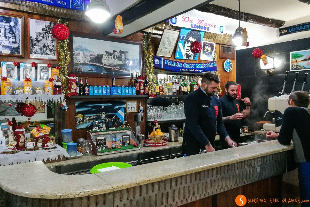 Café en bar Nilo, Nápoles, Italia | Qué y dónde comer en Nápoles