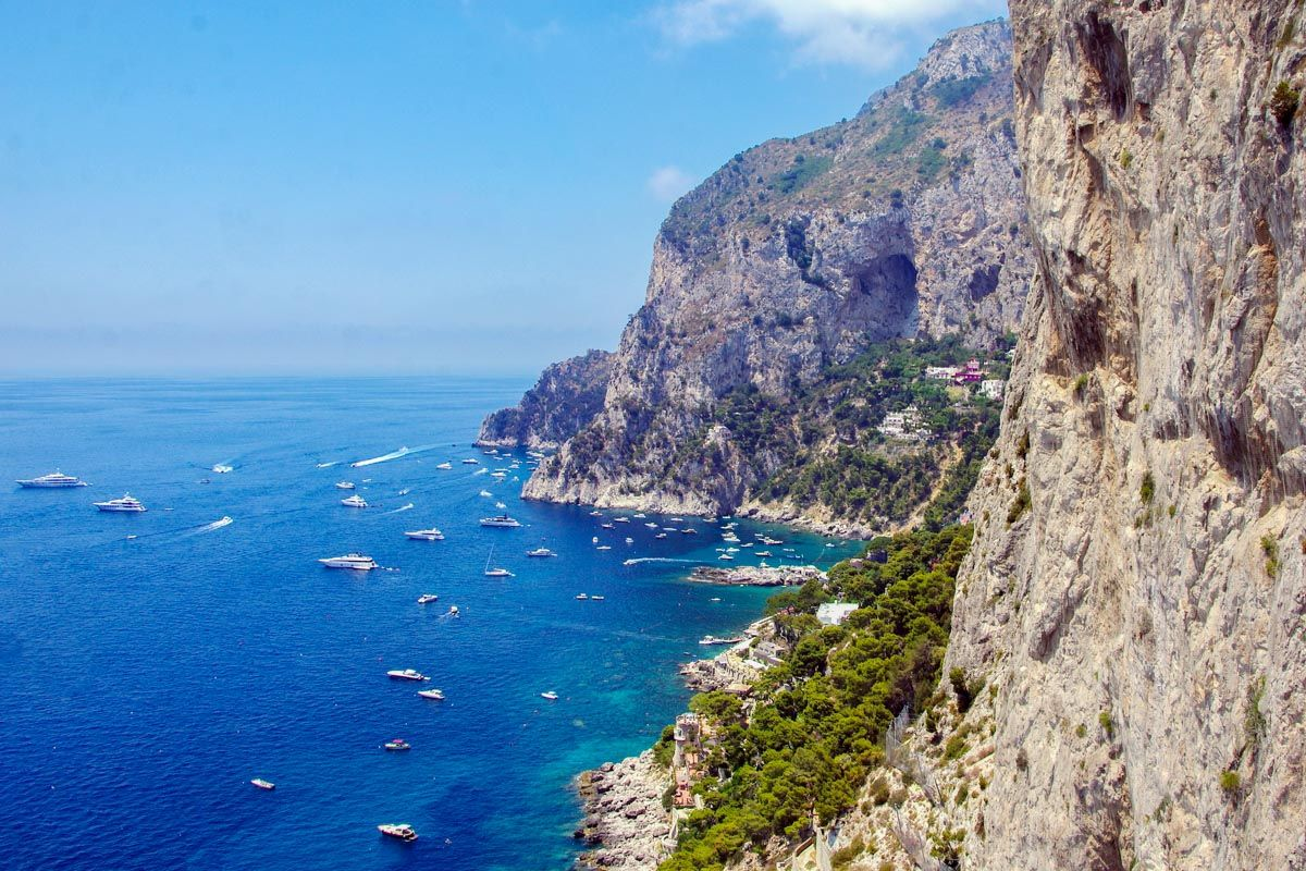 The island of Capri in the Bay of Naples, Italy