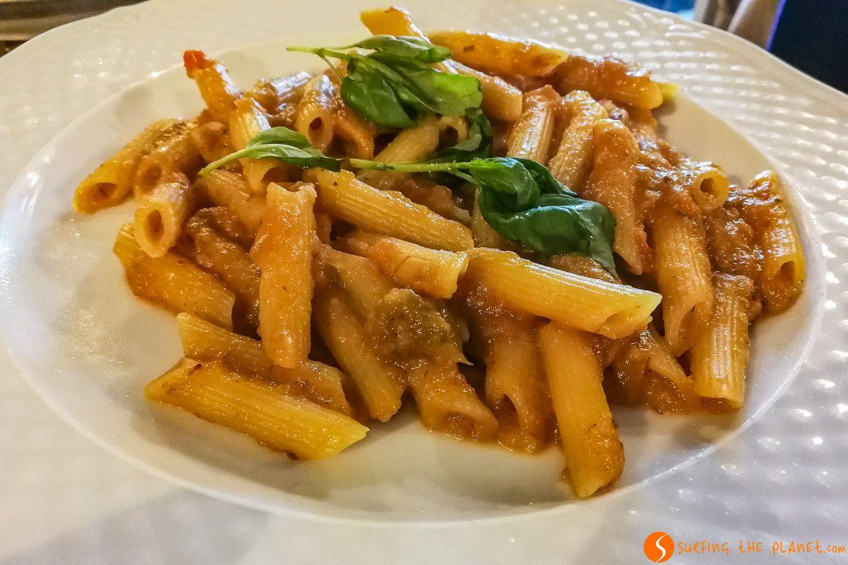Pasta, Trattoria Campagnola, Nápoles, Italia | Dónde y qué comer barato en Nápoles