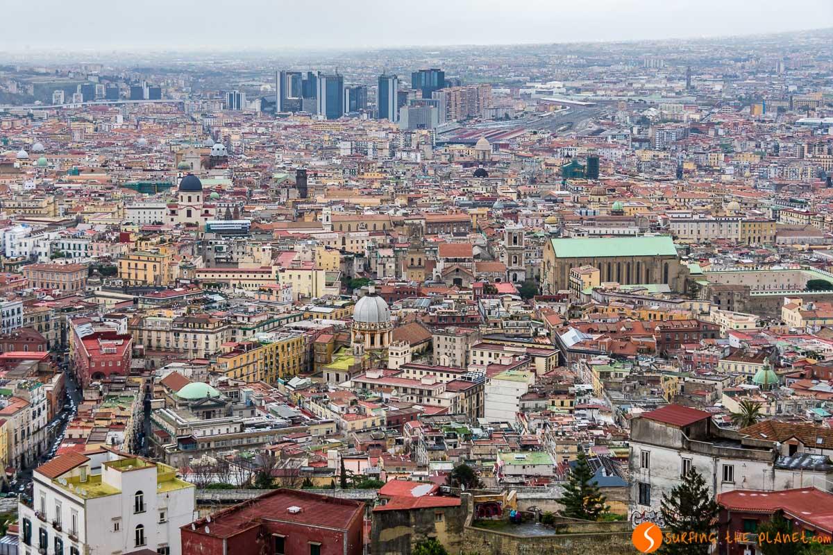 Vistas desde Castel Sant Elmo, Nápoles, Italia | Qué hacer en Nápoles