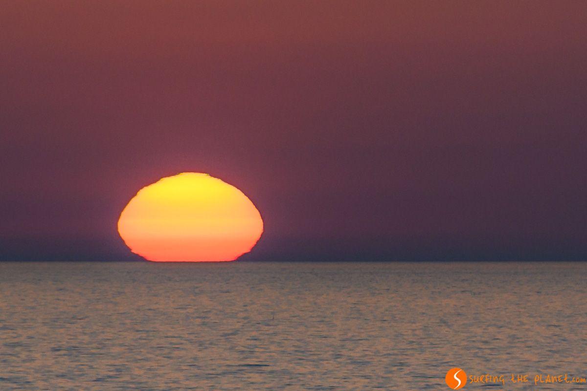 Atardecer desde el Faro de Punta Nati, Menorca, España
