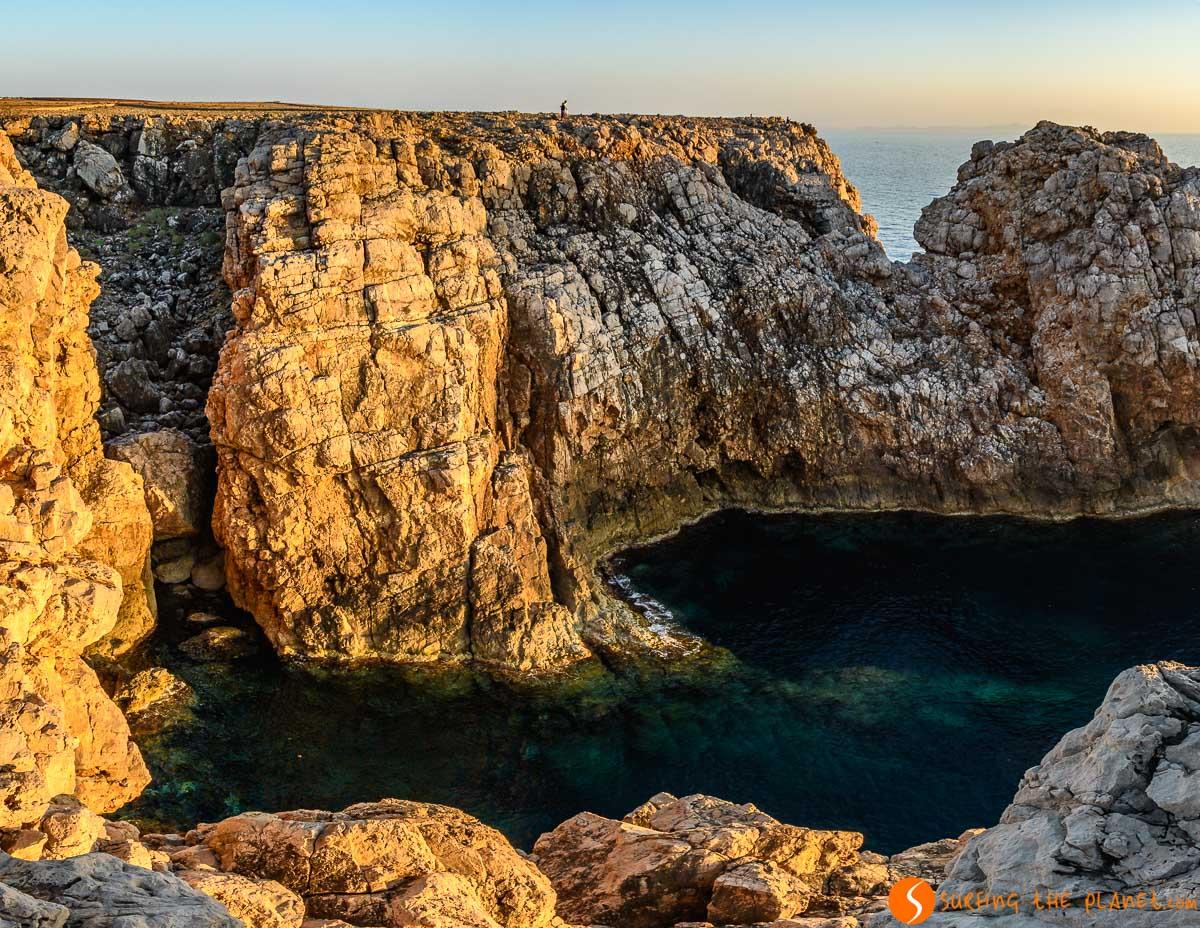 Bufador cerca del Faro de Punta Nati, Menorca, España | Los 7 faros de Menorca