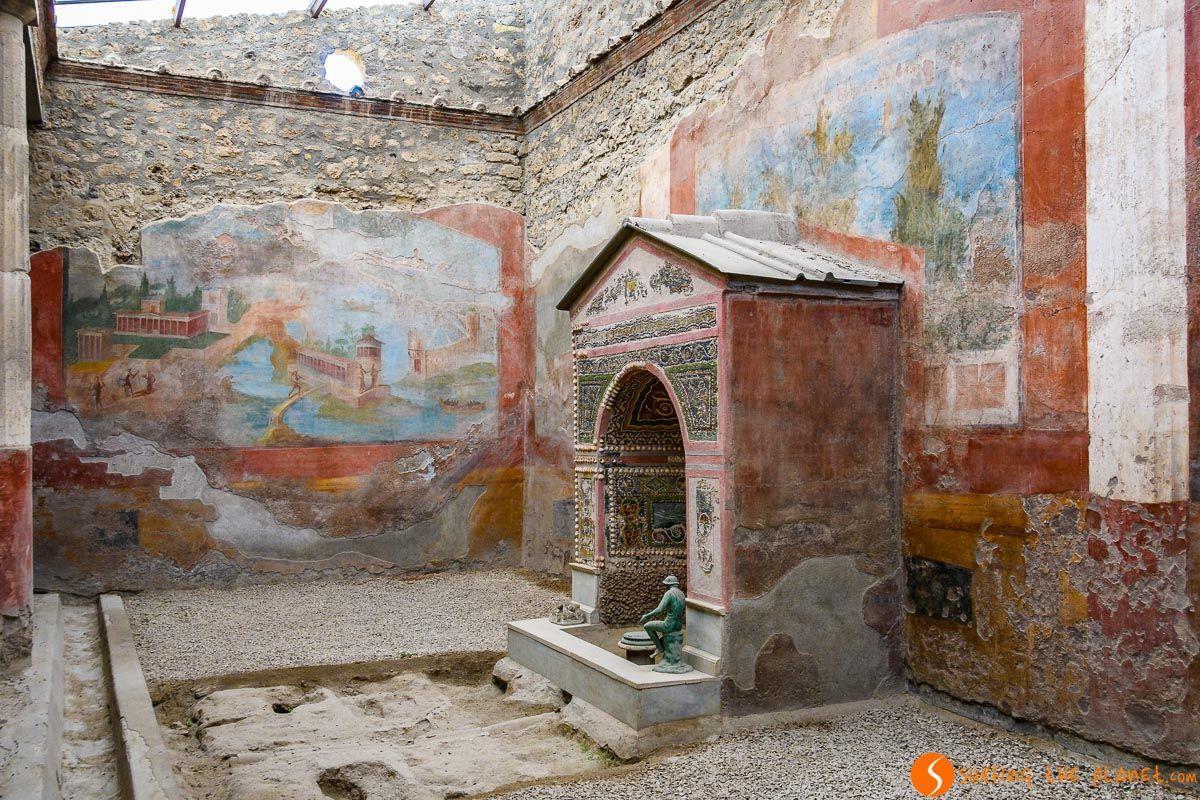 Casa de la Fuente Pequeña, Pompeya cerca de Nápoles, Italia