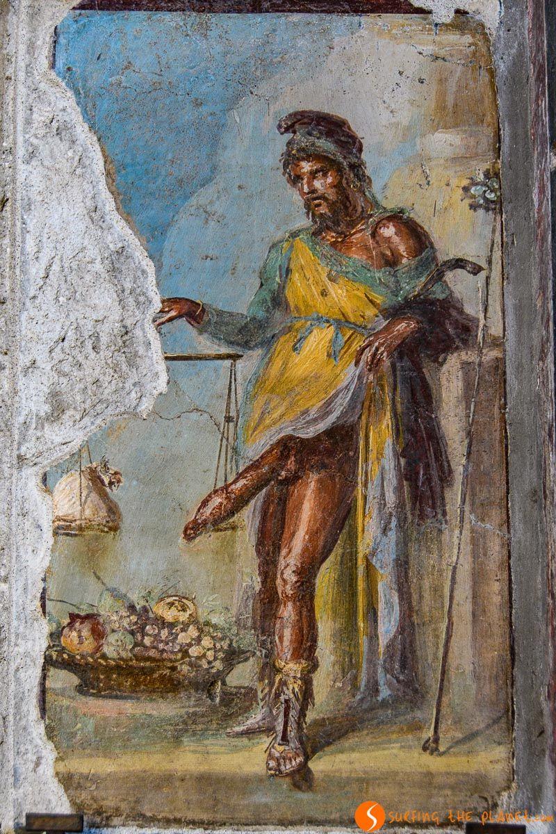 Fresco en la Casa de los Vettii, Pompeya, Italia