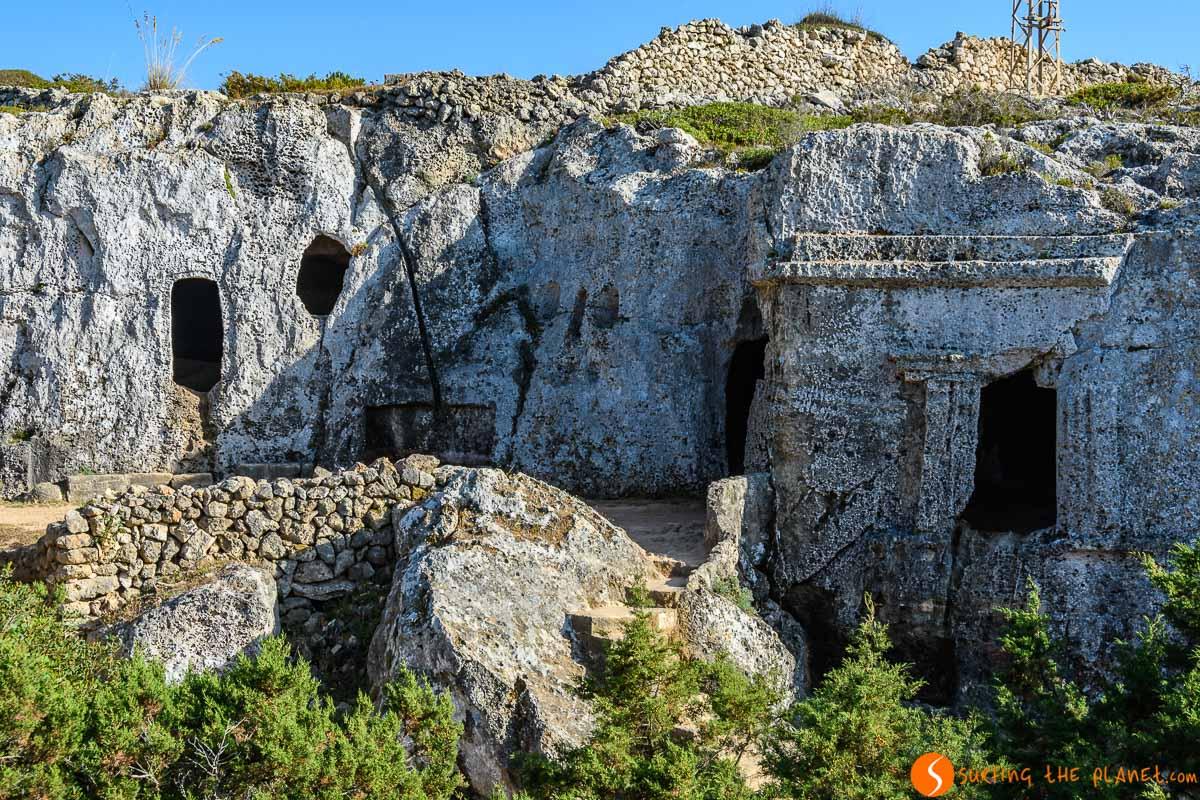 Necrópolis de Cala Morell, Menorca, España | El talayótico de Menorca