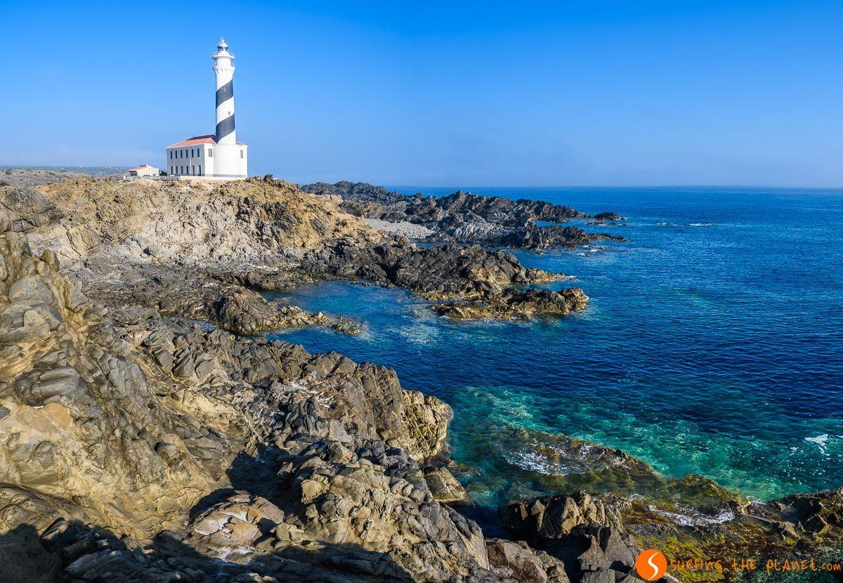 Cala al lado del Faro de Favàritx, Menorca, España | Visitar los 7 faros de Menorca