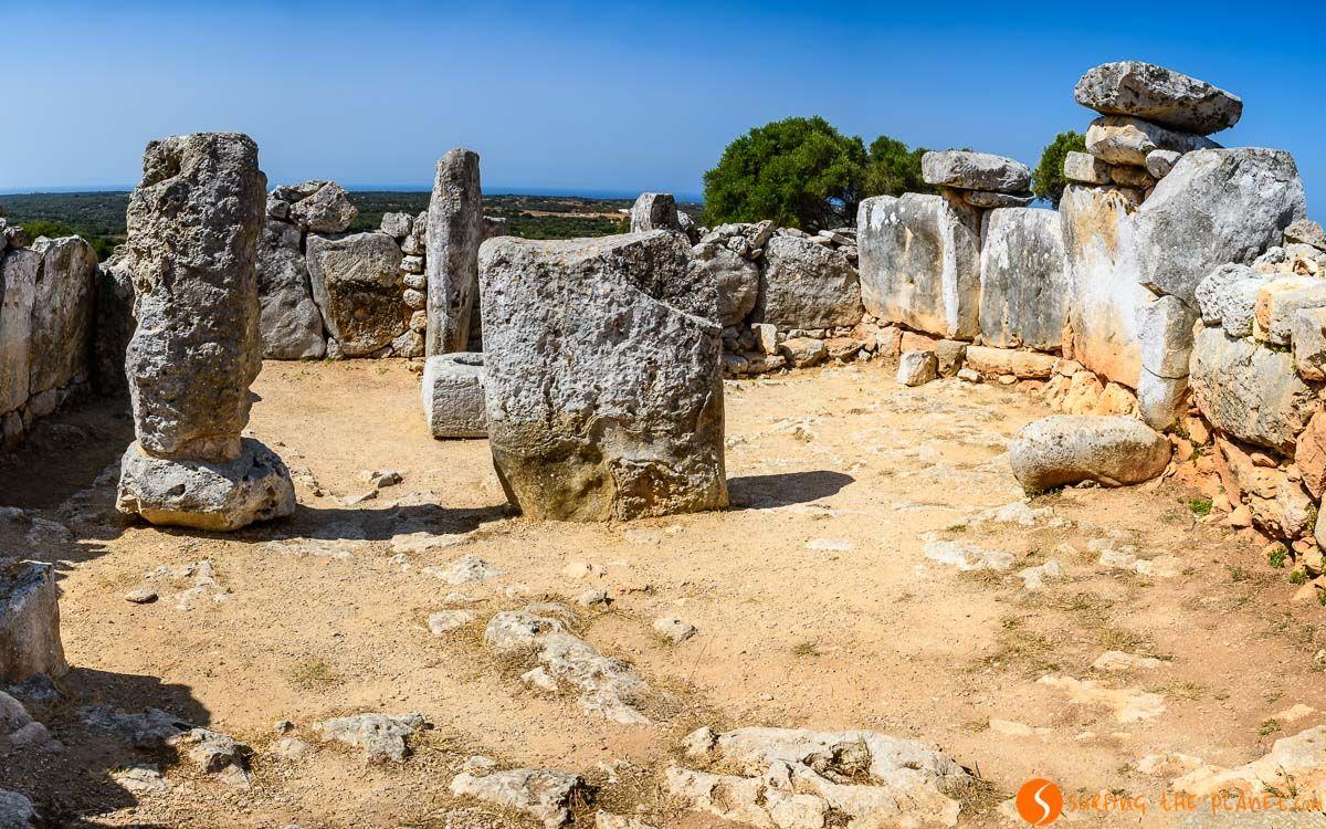 Panorámico desde el Recinto de taula, Torre d'en Galmés, Menorca, España | Ruta talayótica de Menorca