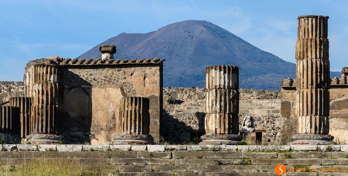 Templo de Júpiter, Pompeya cerca de Nápoles, Italia