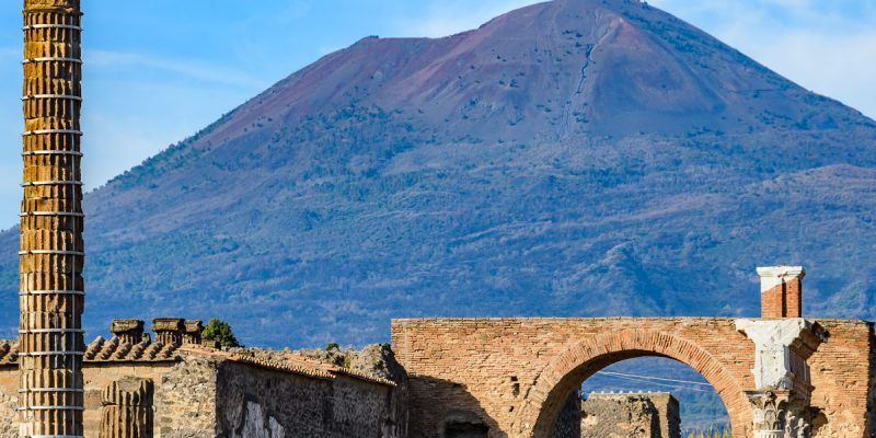 El Vesubio, Pompeya cerca de Nápoles, Italia