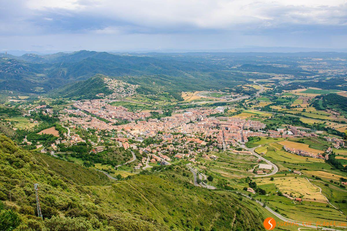 Vistas de Berga, El Berguedà, Cataluña, España