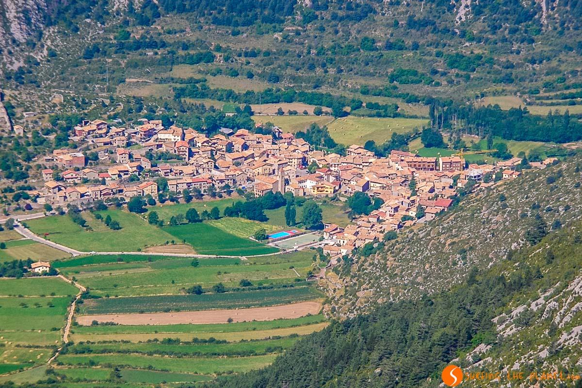 Vistas de Gósol, El Berguedà, Cataluña, España