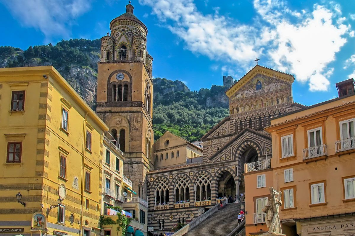 Cathedral in Amalfi, Excursion from Naples, Italy
