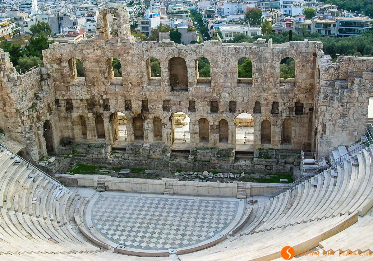 Odeón de Herodes Ático, La Acrópolis, Atenas, Grecia