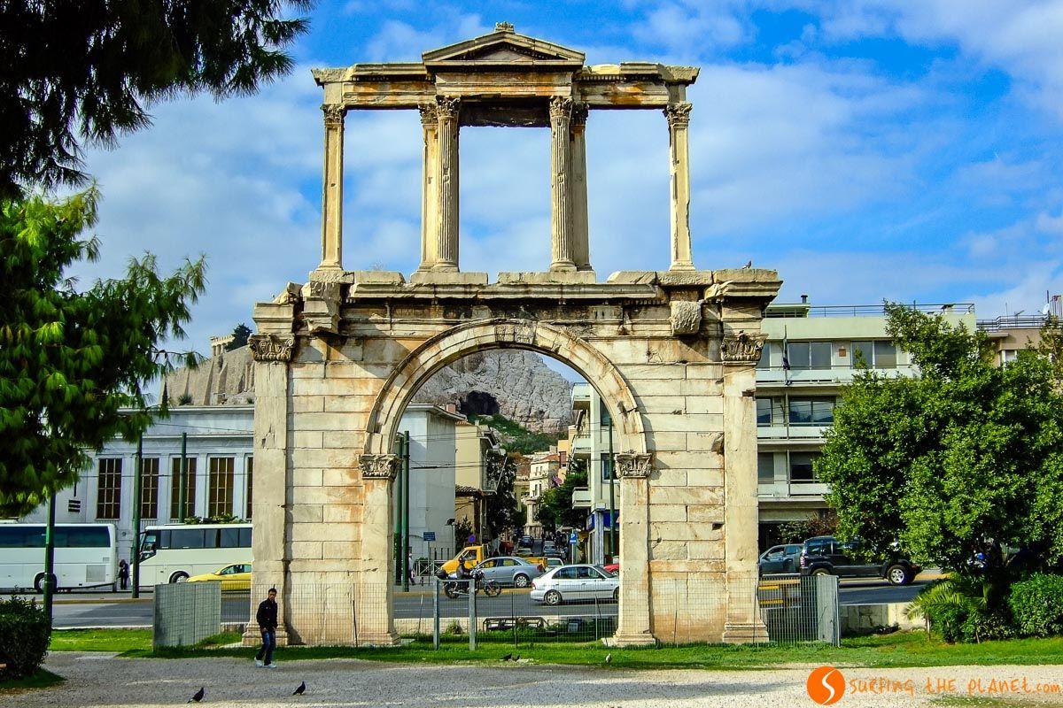 Puerta de Adriano, Atenas, Grecia   Qué ver y hacer en Atenas