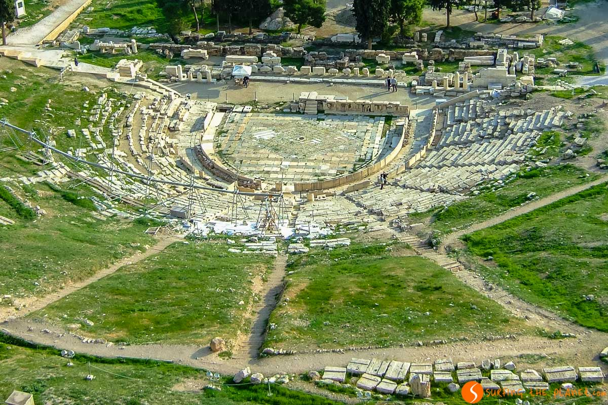 Teatro Dionisio, La Acrópolis, Atenas, Grecia   Qué hacer en Atenas en 2 días