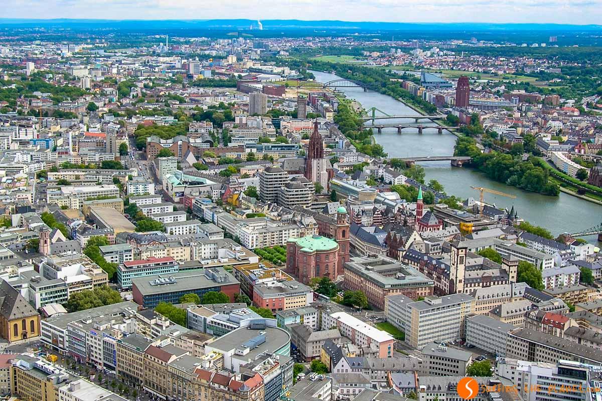 Vistas desde la Torre del Meno, Frankfurt, Alemania