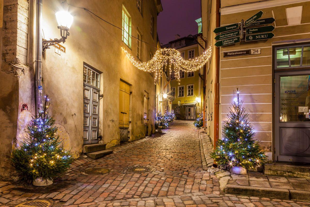 Ambiente navideño, Tallin, Estonia