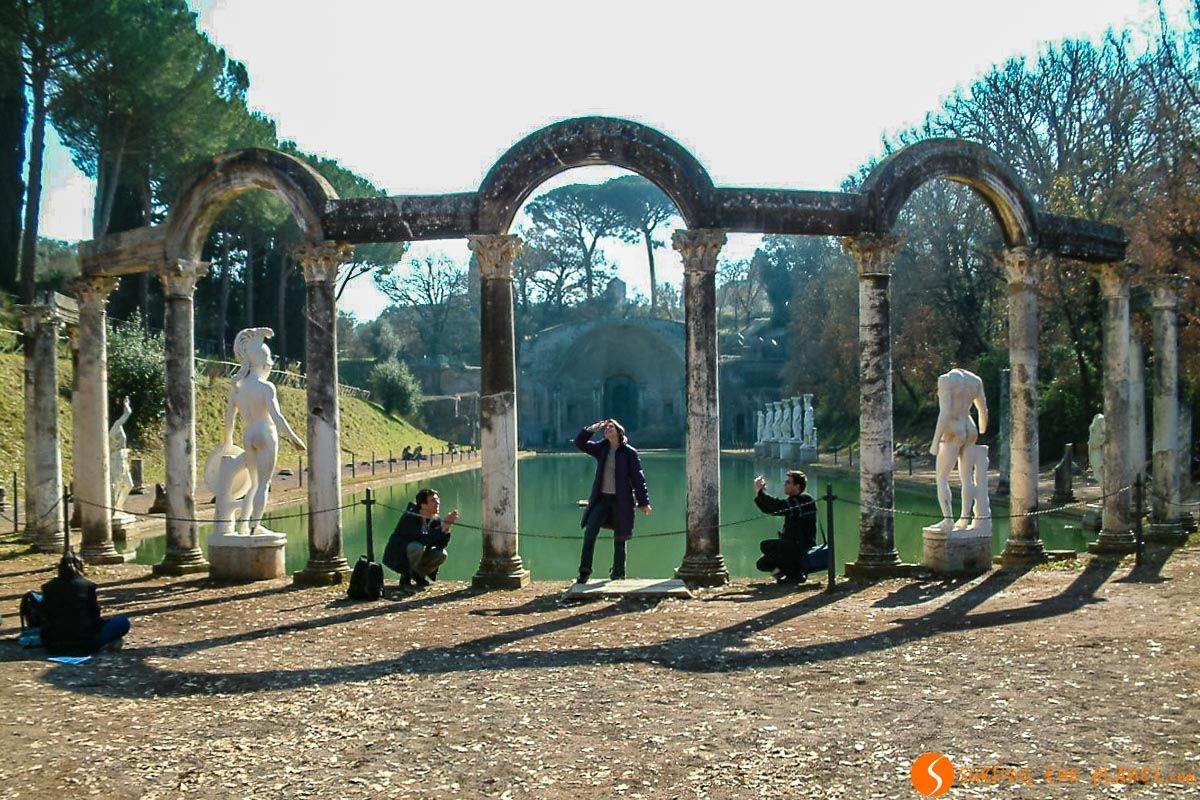 Columnas, Villa Adriana cerca de Roma, Italia |Las 10 mejores excursiones desde Roma