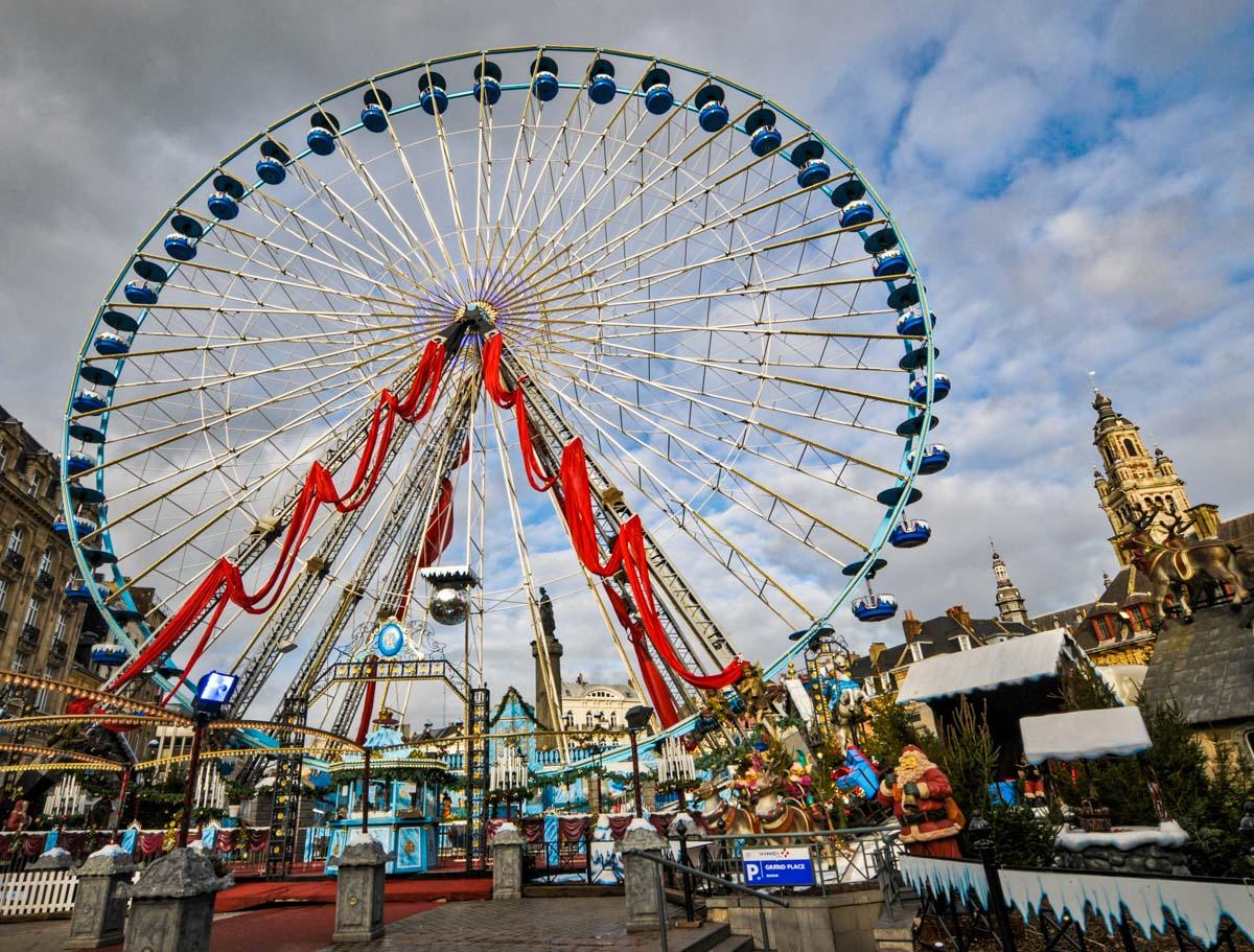 Mercadillo navideño, Lille, Francia