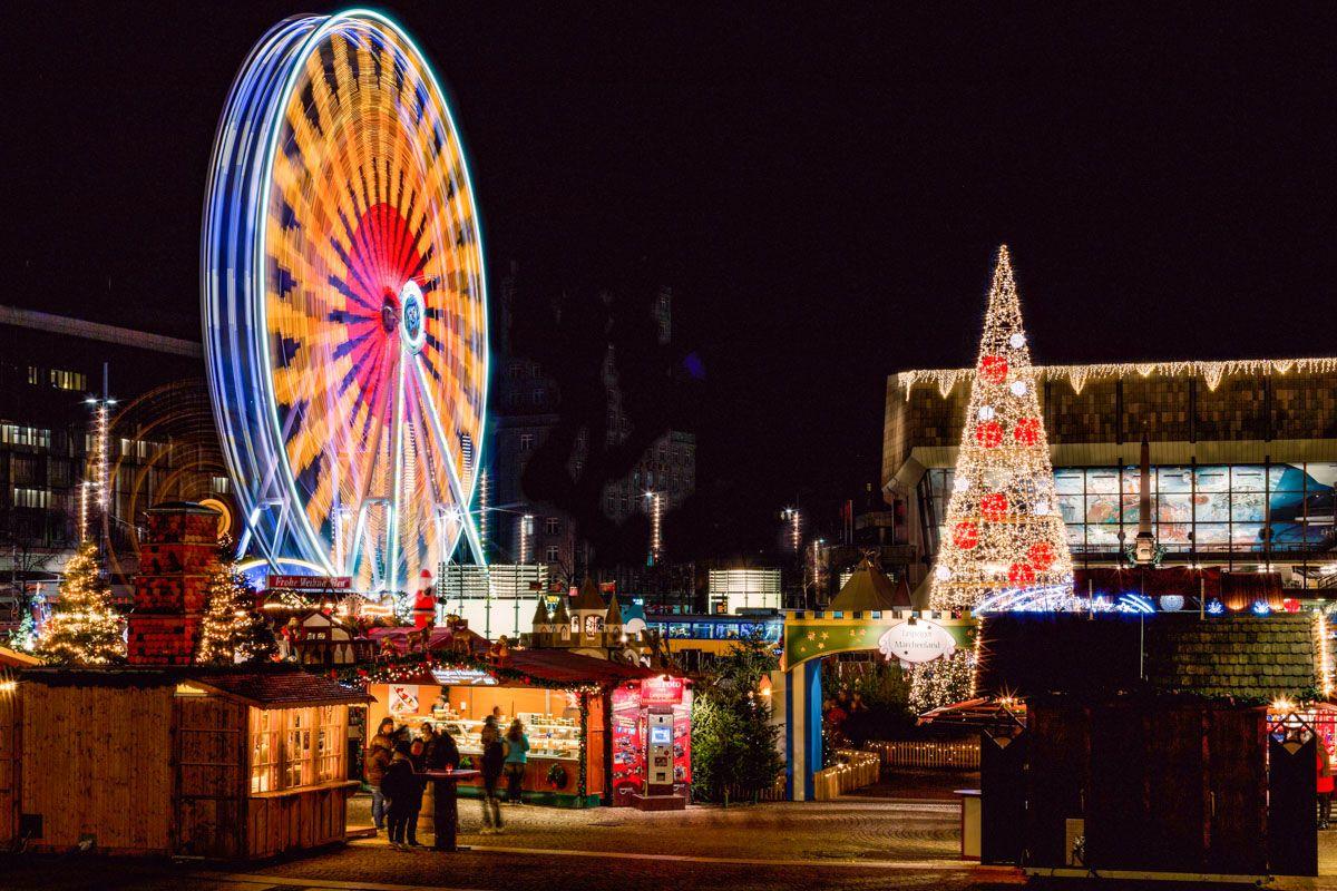 Mercadillo navideño, Lípsia, Alemania