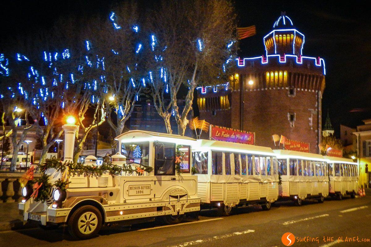 Mercadillo navideño, Perpignan, Francia