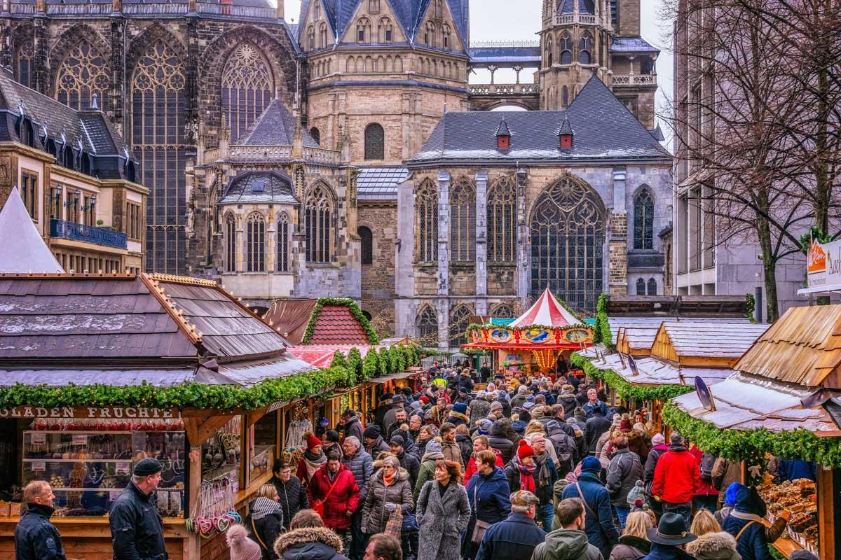 Mercado de Navidad, Aachen, Alemania