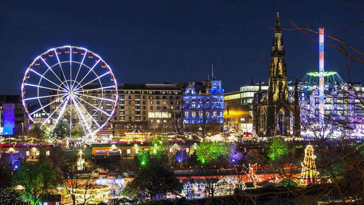 Mercado de Navidad, Edimburgo, Escocia