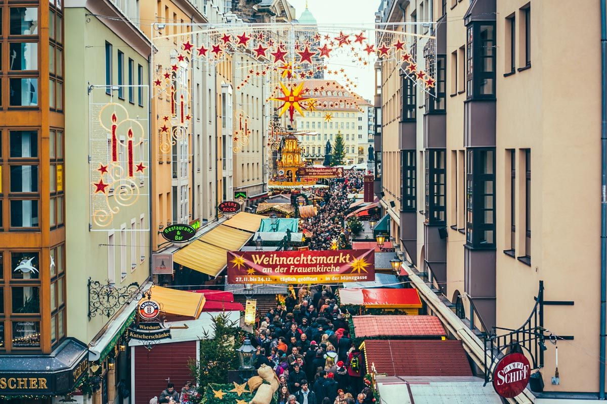 Mercadillo navideño, Dresde, Alemania