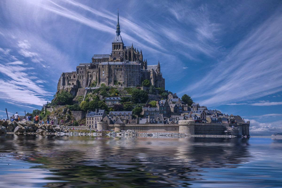 Mont Saint Michel, Normandía, Francia