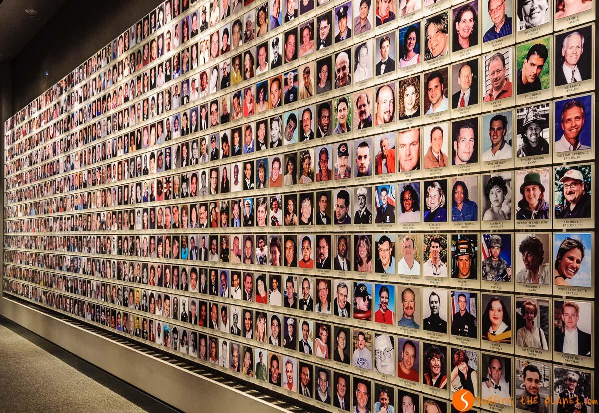 Muro de víctimas, Museo Memorial 9/11, Nueva York, Estados Unidos | 20 museos que debes visitar en Nueva York