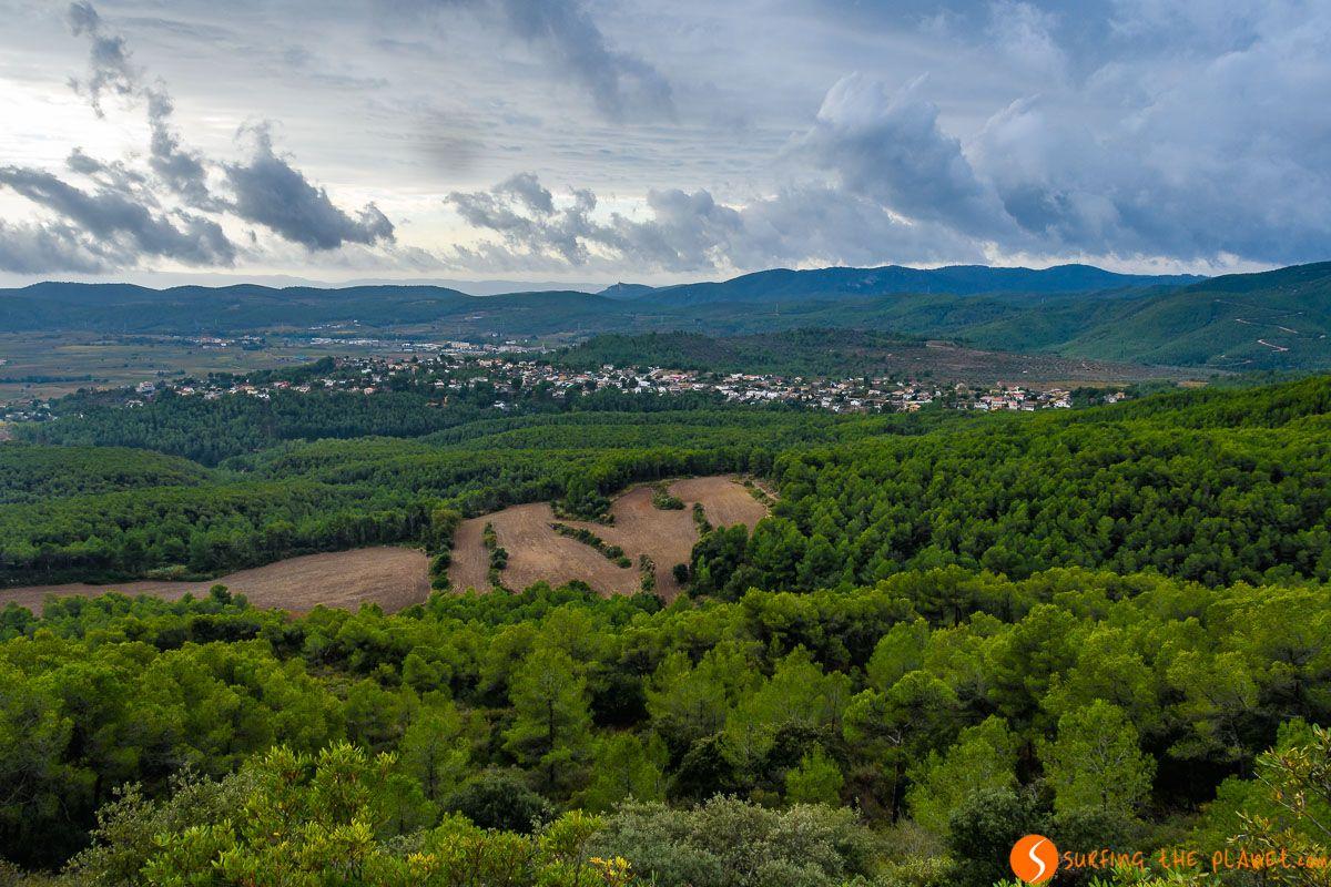Vistas desde el Santuario de Santa Maria del Foix, El Penedès, Cataluña, España | Qué visitar en el Penedès