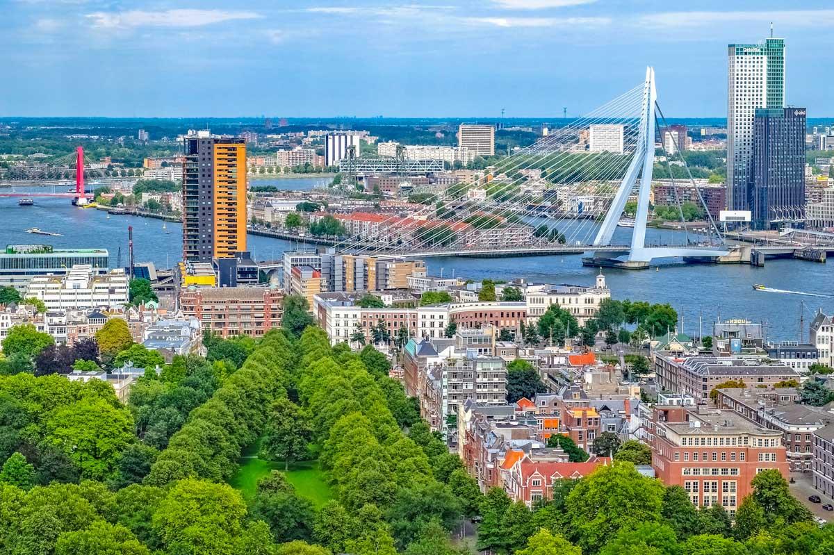 Vistas del centro, Róterdam, Holanda