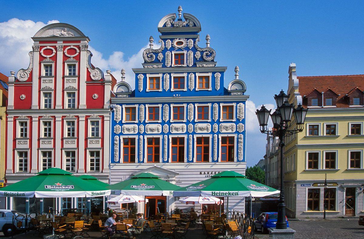 Casas coloridas, Szczecin, Polonia