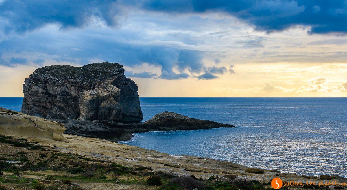 Colores del atardecer, Bahía Dwejra, Gozo, Malta