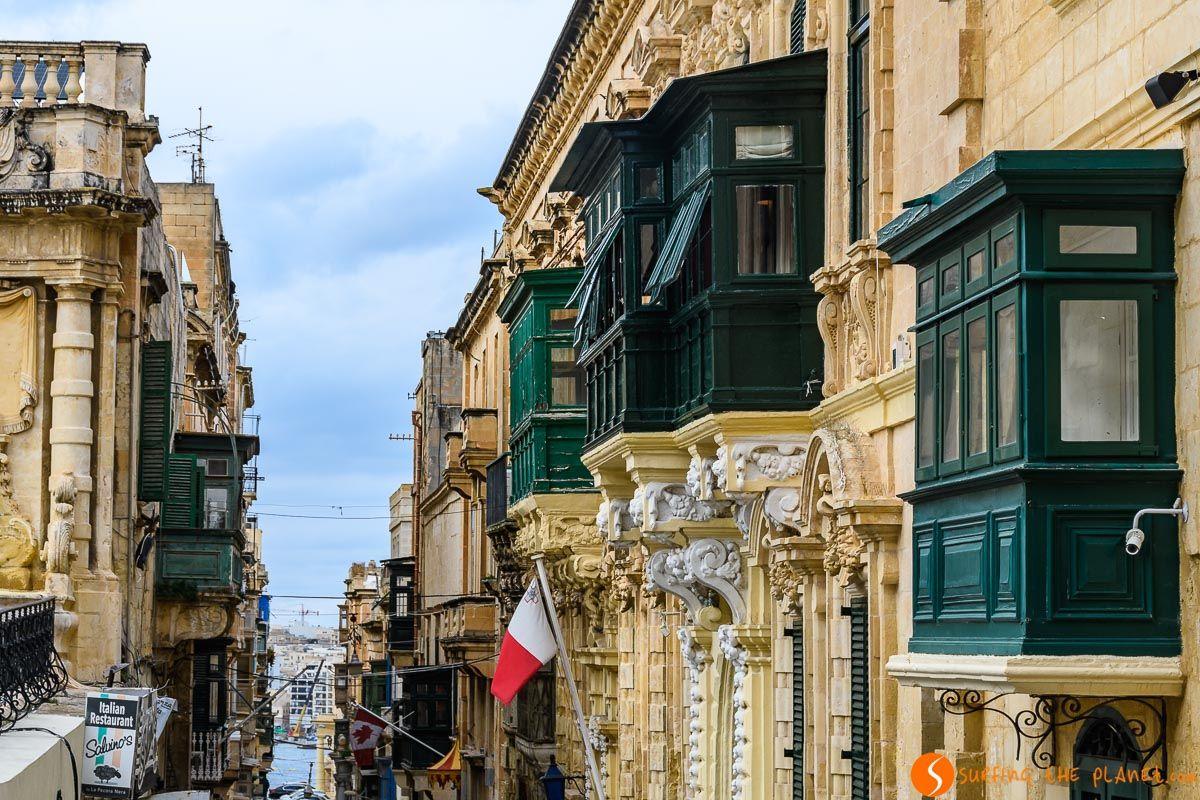 Balcones de color, La Valeta, Malta