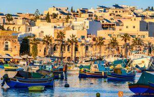Barcos al atardecer, Marsaxlokk, Malta