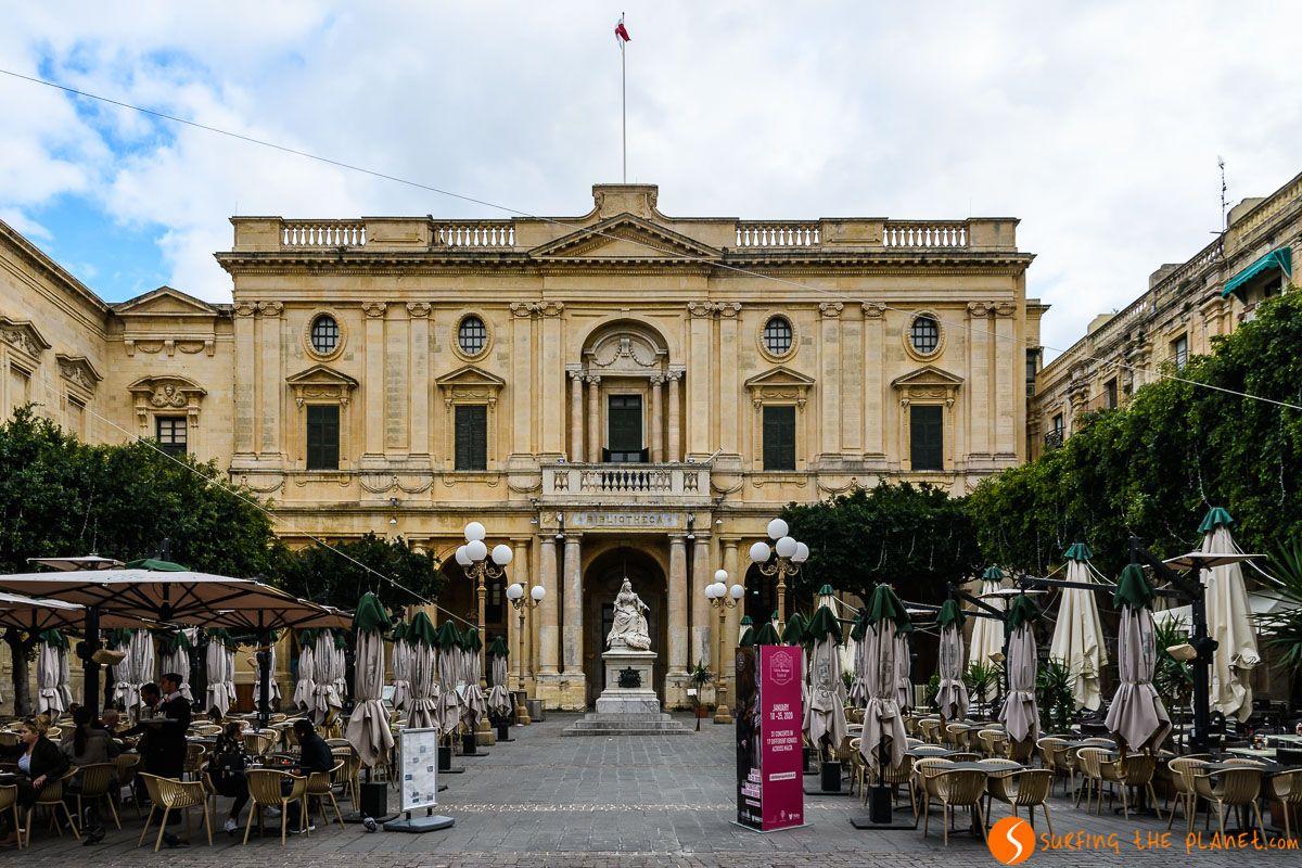 Biblioteca Nacional, Plaza de la República , La Valeta, Malta   Qué ver y hacer en Malta en 3 días