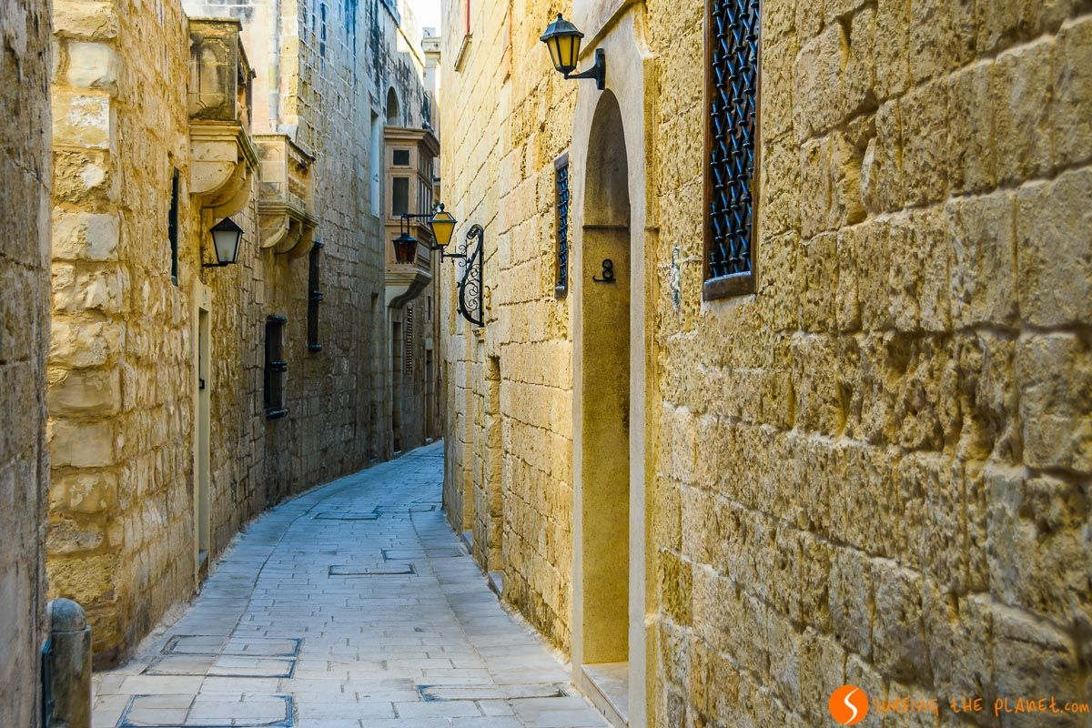 Calle medieval, Mdina, Malta