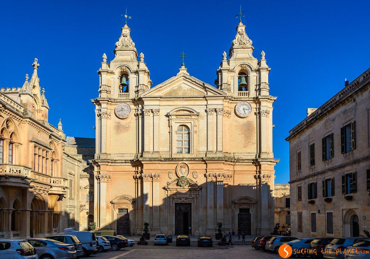 Catedral de San Pablo, Mdina, Malta   Qué ver y hacer en Malta en 3 días