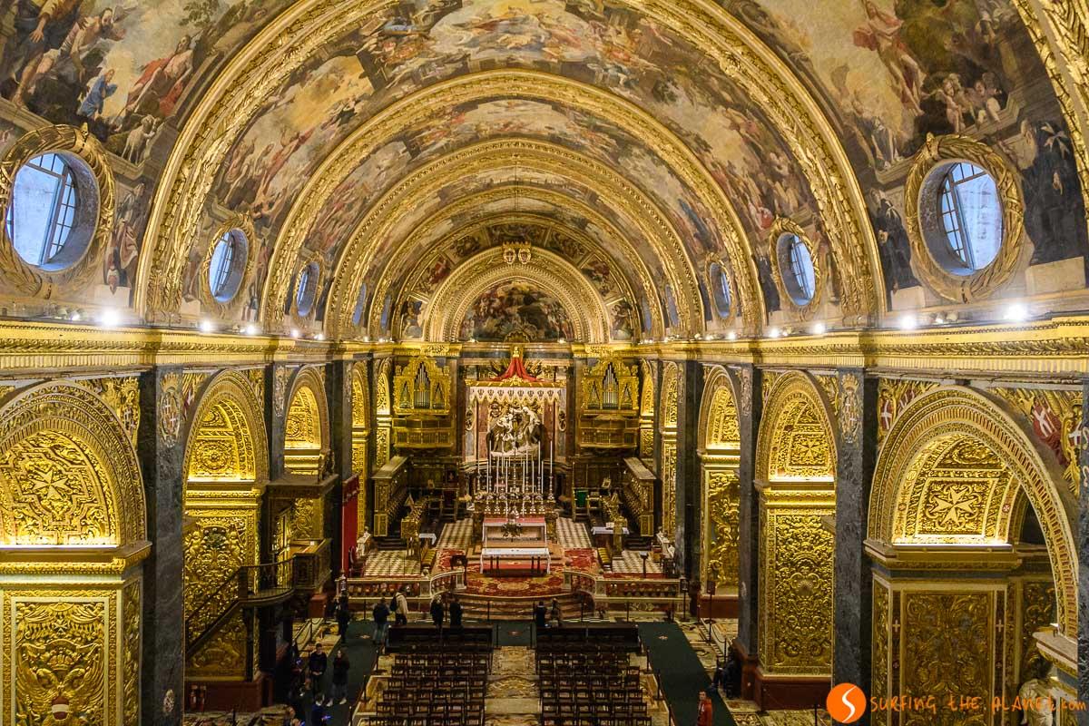 Interior de Concatedral de San Juan, La Valeta, Malta   Malta en 3 días