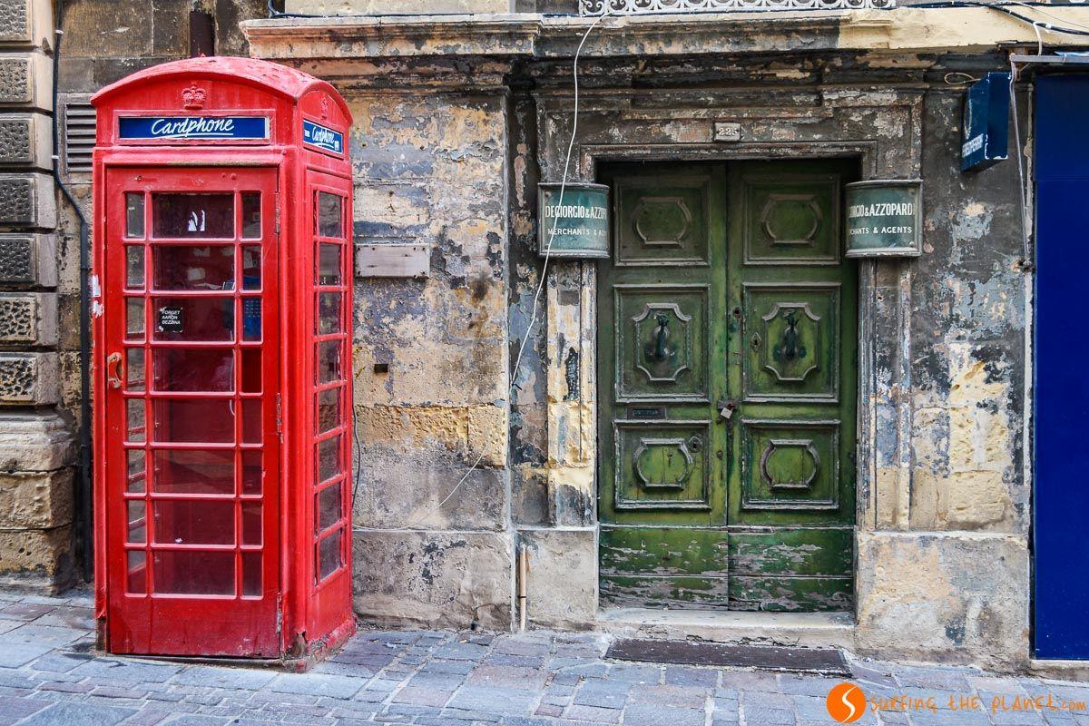 Cabina telefónica, La Valeta, Malta