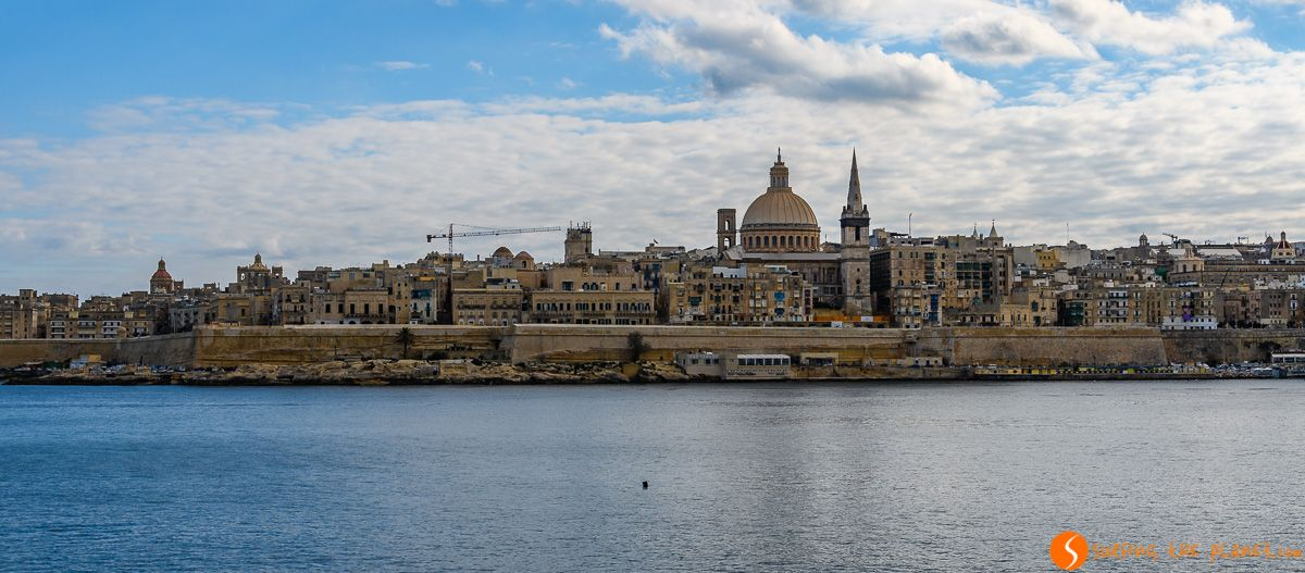 Panorama de La Valeta desde Sliema, Malta   Qué visitar en Malta en 3 días