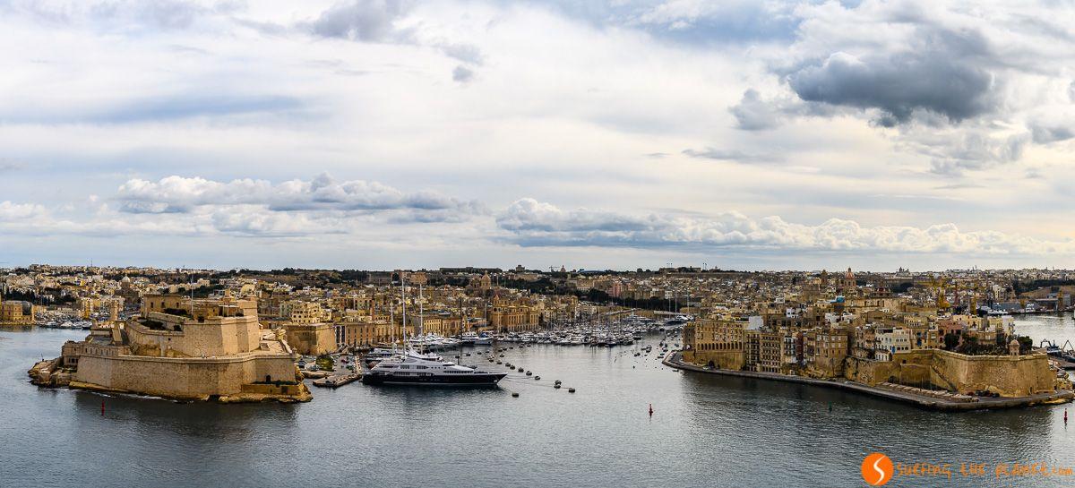 Vistas desde Upper Barrakka Gardens, La Valeta, Malta   Qué visitar en Malta en 3 días